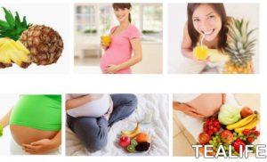 Consumo de zumo de piña durante el embarazo